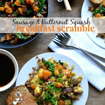 Sausage and Butternut Squash Breakfast Scramble