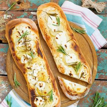 Rosemary Potato and Goat Cheese Flatbread