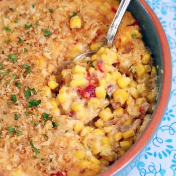 Pimento and Cream Cheese Scalloped Corn
