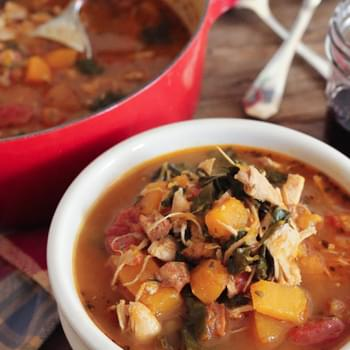 Smoky Chicken Stew with Butternut Squash and Kale
