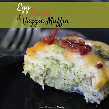 EGG, BACON & VEGGIE BREAKFAST MUFFINS