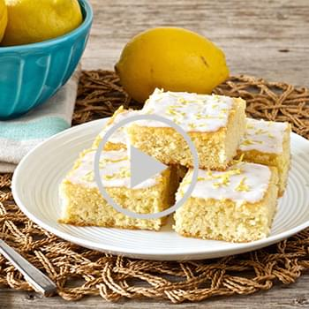 Lemon Brownies With Coconut Lemon Glaze • Paleo, low carb, gluten-free, grain-free, dairy-free, refined sugar-free