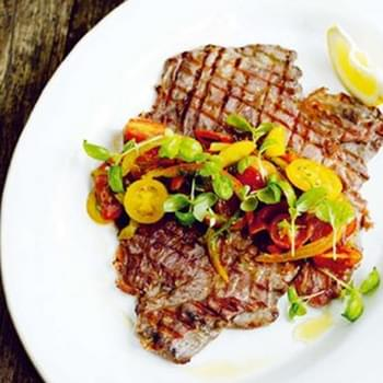Jamie Oliver's flash steak and salsa picante