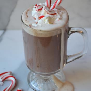 Peppermint Hot Cocoa with Peppermint Whipped Cream