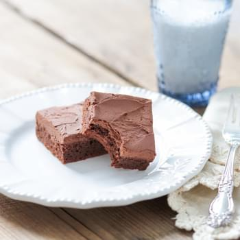 Grain Free Fudgy Brownies with Dairy Free Chocolate Frosting