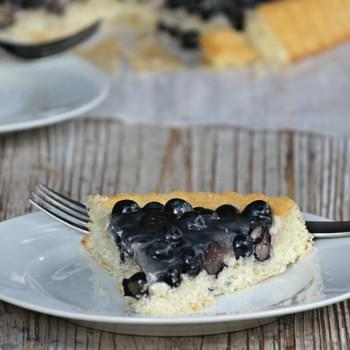 Obstkuchen mit Blaubeeren or Fruit Cake with Blueberries