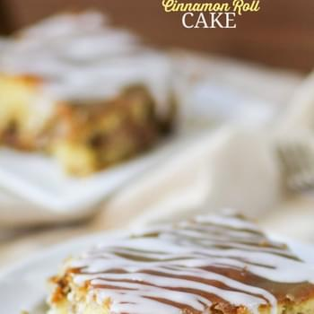 Caramel Apple Cinnamon Roll Cake