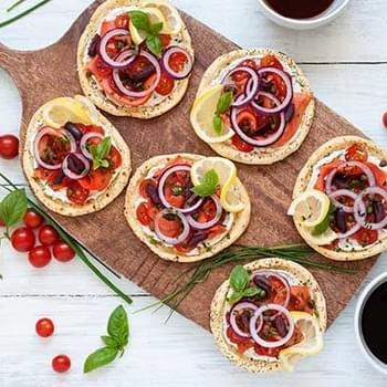 Gluten Free Lox and Bagels Breakfast Pizzas