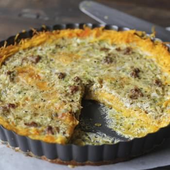Sausage & Green Chili Quiche with Butternut Squash Crust