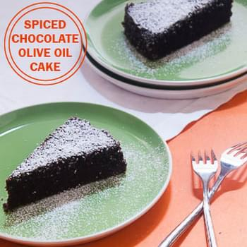 Spiced Chocolate Olive Oil Cake