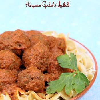 Slow Cooker Hungarian Goulash Meatballs