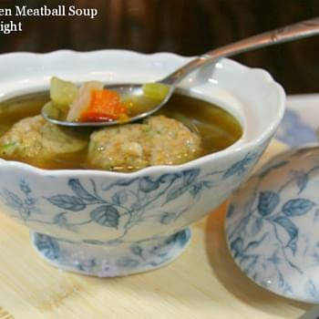 Matzo Chicken Meatball Soup