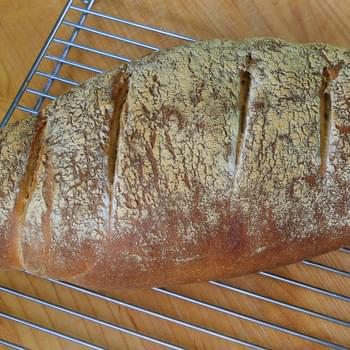 Whole Wheat Peasant Bread | Not Drab, Not Difficult