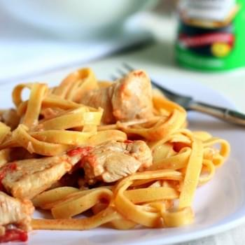 Lightened Up Creamy Cajun Chicken Pasta