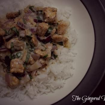 Basil Chicken with Coconut Cream Sauce