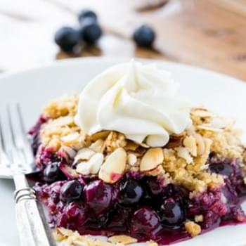 Blueberry Crumble Recipe + Le Creuset Giveaway!