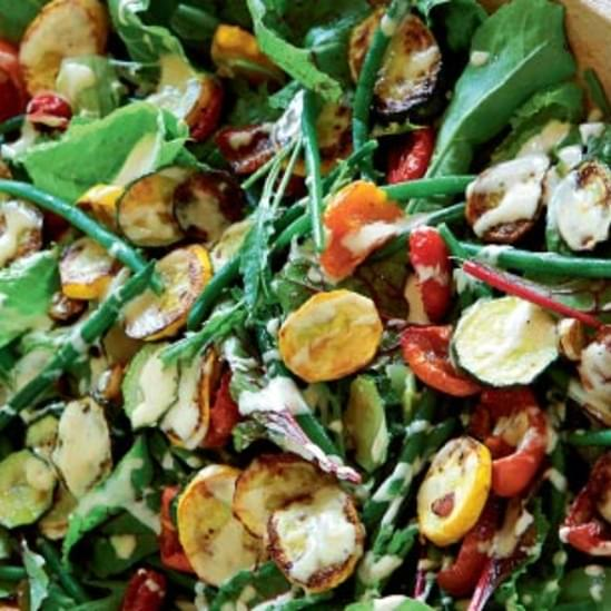 Tahini-Dressed Zucchini and Green Bean Salad