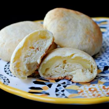 Chinese Baked Custard Filled Buns (奶黄包)