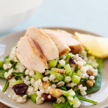 Wheat Berry Salad with Lemon-Cumin Grilled Chicken