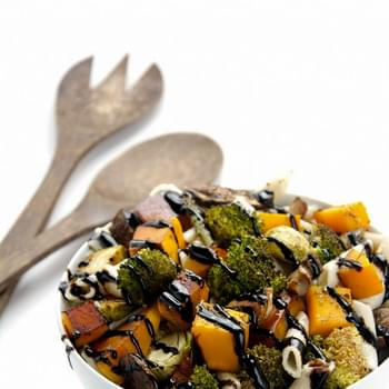 Maple Roasted Autumn Vegetable Pasta