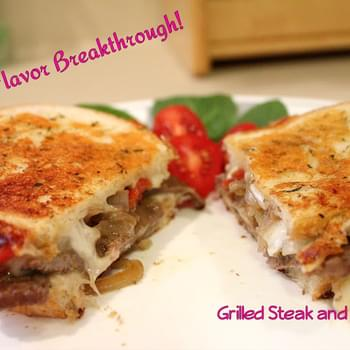 Grilled Steak and Cheese!