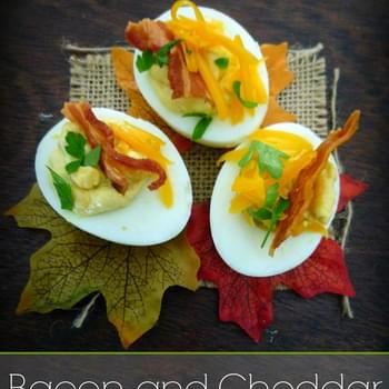 Bacon Cheddar Horseradish Deviled Eggs