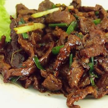 Stir Fry Beef With Spring Onion