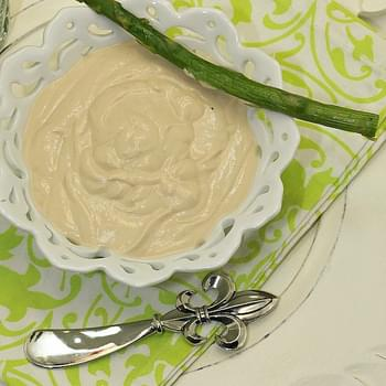 Roasted Asparagus with Yogurt Wasabi Dip