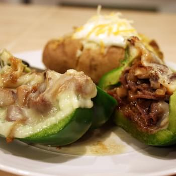 Philly Steak and Cheese Stuffed Peppers
