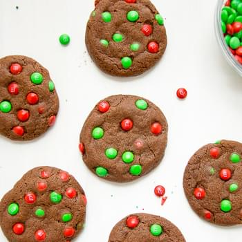 Chocolate M&M Cookies And Holiday Recipes I Love