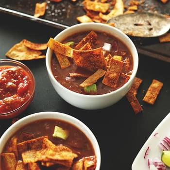 Loaded Veggie Nacho Soup