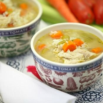 Chicken Vegetable Soup with Rice