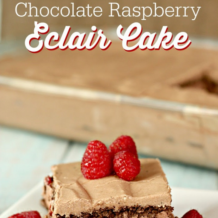 No Bake Chocolate Raspberry Eclair Cake Recipe