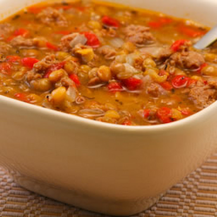 Lentil Soup with Italian Sausage and Roasted Red Peppers ...