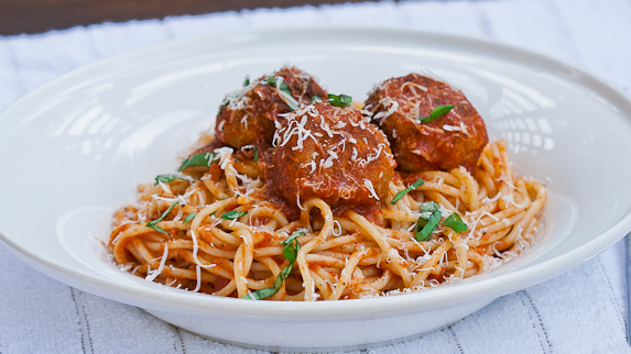 Chicken meatballs and pasta recipe