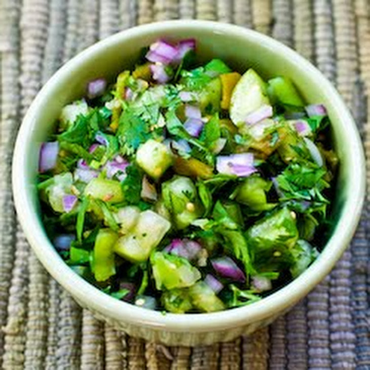 Tomatillo Salsa with Roasted Green Chiles, Cilantro, and ...