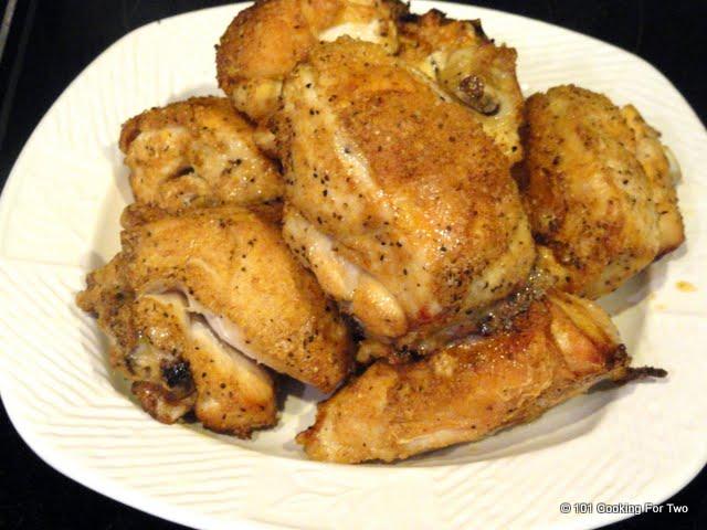 Chicken-Crispy Baked Garlic Split Chicken