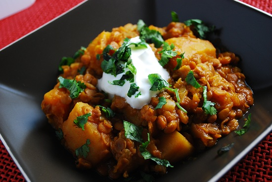 Crock Pot Pumpkin Lentil Stew Recipe