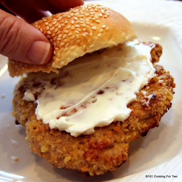 Oven Fried Pork Tenderloin Sandwiches Recipe