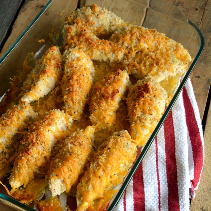 Garlic Cheddar Chicken Strips Recipe