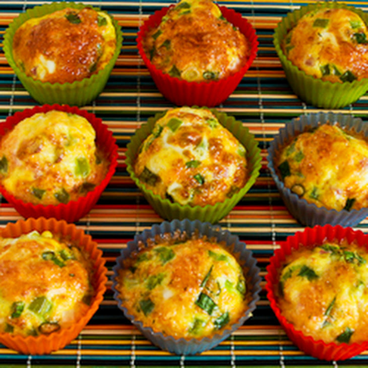 Egg Muffins With Ham Cheese And Green Bell Pepper Recipe