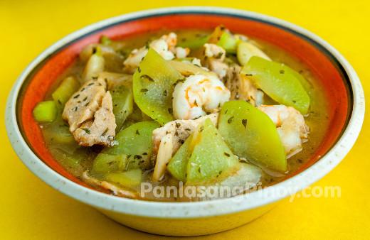 Sayote Guisado With Chicken And Shrimp Recipe