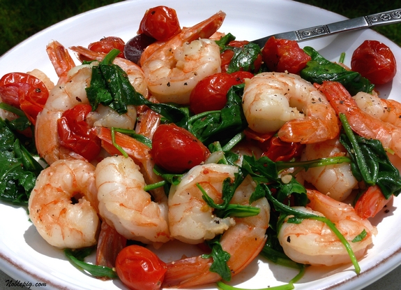 Garlic Shrimp in Coconut Milk, and Tomatoes with Cilantro From ...