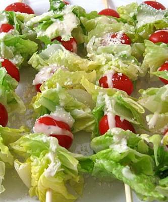 Super Low Calorie Caesar Salad On A Stick Recipe