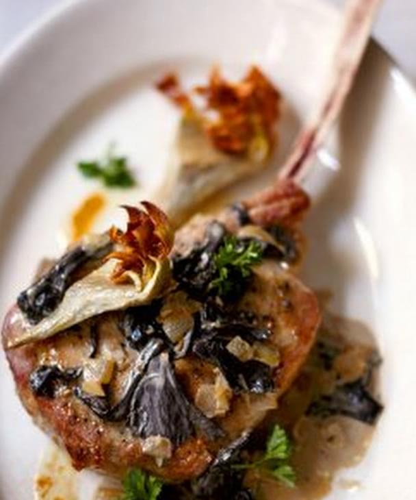 weight watchers veal chop recipe Roasted Veal Chops with Artichokes