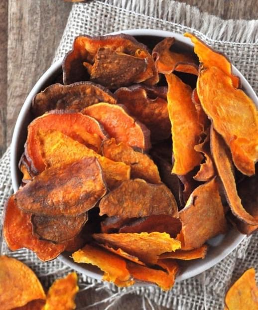 Baked Sweet Potato Chips Recipe