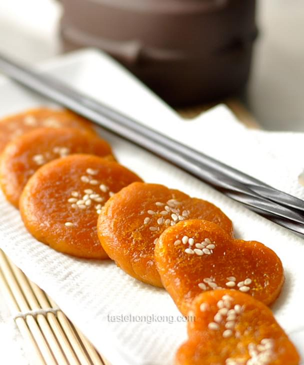 Pumpkin Sweet Rice Pancake Chinese Style Recipe