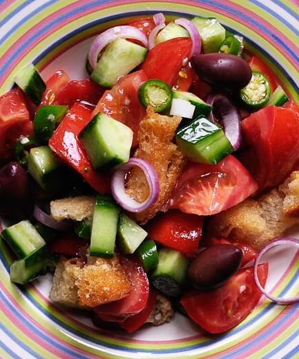 Panzanella Italian Bread Salad Recipe