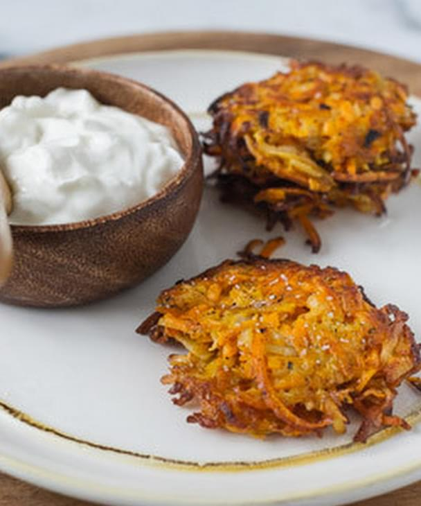 Sweet Potato Parsnip And Turnip Latkes