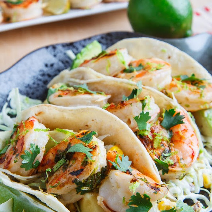 Under 300 Calorie Honey Lime Shrimp Recipe By Tasty: Cilantro Lime Shrimp Tacos With Roasted Corn Slaw And